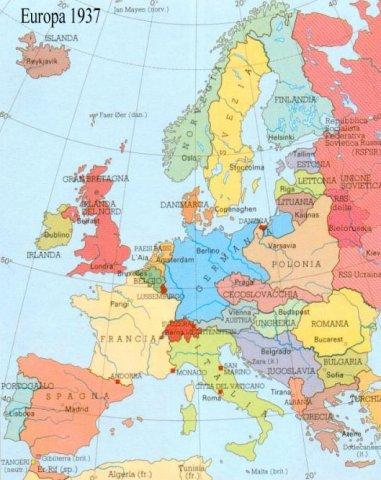 Cartina Europa 1938.Cartine Ii G M